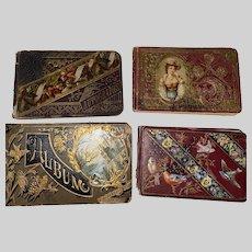 Antique Victorian Set Of 4 Hardcover Autograph Momentous Albums