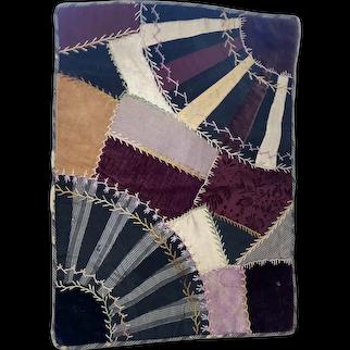 Antique Miniature Sampler Crazy Quilt