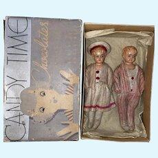 "Antique German Celluloid Rare Boxed 6"" Dolls"