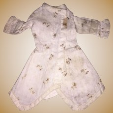 Antique Floral and Sprig Early Doll Chemise/ Dress