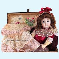 "12"" Antique German Doll by Kestner 152 with Trunk Trousseau 1900ca+ ~ Layaway~"