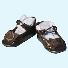 """Kid Patent  Leather German Doll or French Bebe shoes 2 ½"""" by 1 1/4""""~ please contact us for invoice. ~~ #3"""