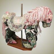 "Sale ~ Vintage Beautiful decorative display cloth horse 14"" high"