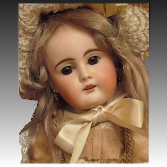 """Enchanting!  17"""" Early German Sonneberg  Doll Bahr & Proschild Mold 261, Silk French Costume, Super condition ~~ Layaway~~"""
