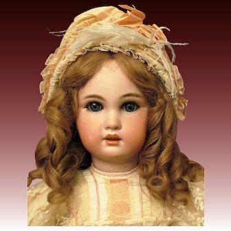 "27"" Antique French Bebe Doll by Jumeau Original body Bebe Jumeau Diplome d' Honneur label Sleep blue  eyes"