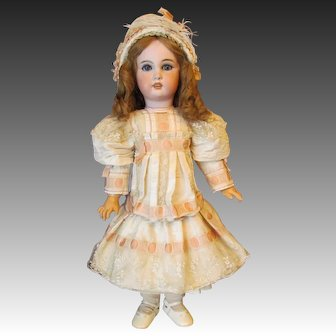 """French Bebe Silk Costume Dress, Bonnet Fits 27"""" French or German Doll ~~ Very Stunning and Elegant~~Layaway~~"""