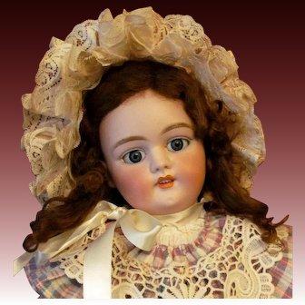 "25"" Simon & Halbig 1079 DEP Antique German Doll on Original Stamped Handwerck Body"
