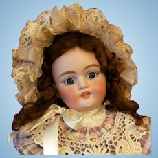 "REDUCED ~ 25"" Simon & Halbig 1079 DEP Antique German Doll on Original Stamped Handwerck Body"