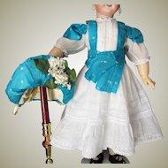 Antique White Cotton Doll Dress Bonnet  for 26-28inch Doll
