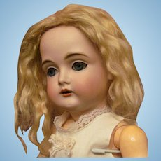 "Antique Blonde Mohair Wig Fits Doll with 11-11 ½"" Head Circumference"