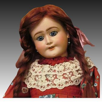 """29"""" Stunning!  French Bisque Doll by Limoges ~~ Layaway~~"""