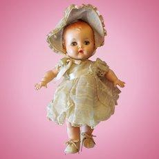 "Block Yes No  Doll Toddler Girl 11"" tall Beautiful Original Condition   1950ca+  No Damage!"
