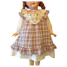 "Two piece Dress and Jumper fits 25-27"" French or German Doll"