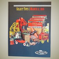 Bertoia Auction Toy Catalog Cast Iron Toys, Early American Toys, Banks, Doorstops, Trains.