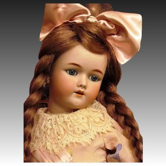 "24"" Antique German Bisque Head Doll Handwerck Mold 69 ~~ Layaway~~"