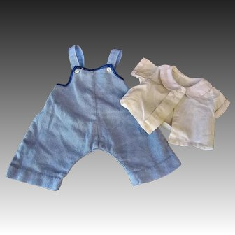 """Two Piece Outfit for German or French 18"""" Bisque Boy Doll"""