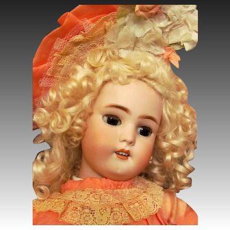 """Darling! 22"""" German Doll  Simon & Halbig Mold 1078 for French market! Wonderful condition"""