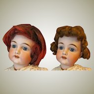 """Vintage Two synthetic wigs for doll with 12"""" in head circumference"""