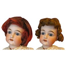 "Vintage Two synthetic wigs for doll with 12"" in head circumference"