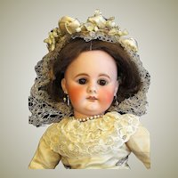 "16"" Early German Sonneberg  Doll Bahr & Proschild Mold 300, Silk Bride Costume, Lovely condition ~~ Layaway~~"