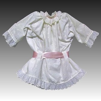 Eyelet Dress, Pantaloons fits 29 inch French or German Doll