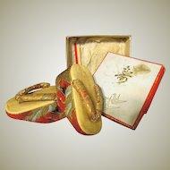 Vintage Traditional Japanese sandals Geta 1940ca+