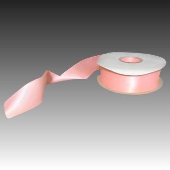 """48 yards satin ribbon in Pink Color 1-1/2"""" wide DOUBLE FACED"""