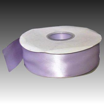 """50 yards satin ribbon Lavender 1-1/2"""" wide, DOUBLE FACED"""