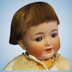 "Vintage wig in a ""bob"" style  for baby Doll  or toddler German or French with 12"" in head circumference"