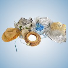 Vintage Little hats for Dolls or Bears, Petite size!