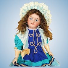 27 inch Antique German Doll by Handwerck Simon Halbig Mold 119  ~ Gorgeous blue sleep eyes~~