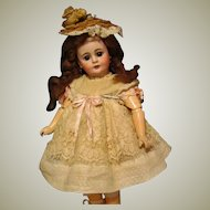 """Lovely off white cotton Swiss dot Dress fits 14"""" French or German Doll"""