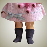 Cotton Knit Doll grey Socks Stockings for 10-12 inch doll German or French