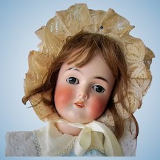 Antique German Doll 23 inch Queen Louise  Sleep blue eyes