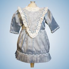 Silk Dress 18-20 inch German Or French child toddler Doll Bebe or Rerpo doll.