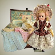 """12"""" Darling German Doll Kammer and Reinhardt K R Kestner 192 with Trunk Trousseau ~ Layaway~"""