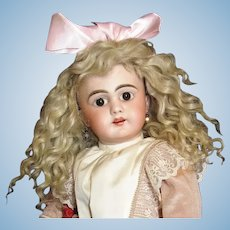 "Ash Blonde Mohair Wig Fits Doll 12"" Head Circumference ~ Lovely and very full~ handmade~"