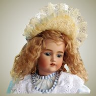 "Golden Blonde Mohair Wig Fits Doll 12""-12 1/2"" Head Circumference ~ Lovely and very full~ handmade~"