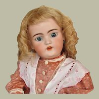 "Antique Blond Wig  10 1/2"" head circum.  original cardboard pate Simon Halbig Wig fits doll around 20inch"