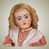 "Antique Blond Wig  10 1/2"" head circum.  original cardboard pate Simon Halbig Wig fits doll around 20inch"
