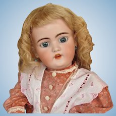 "Antique Blond Wig  10 1/2"" head circumference with cardboard pate ~ fits doll around 20inch"