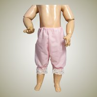 Vintage Pale Pink Doll Pantaloons for a doll around 20-23 inch tall