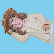 Rare Early French Jules Steiner Bisque Head  Sleeping Beauty Bebe ~ 1889ca
