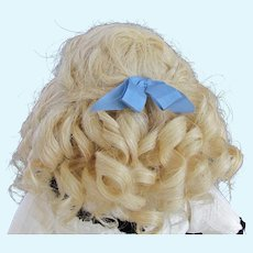 """Mohair Sunny Blond Wig French Bebe German Doll ~~ Head circumference 9 1/4"""" -9 3/4"""""""