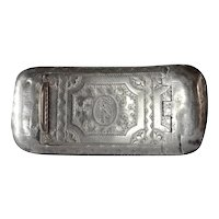 A George III silver pocket snuff box by Joseph Willmore, 1809c.