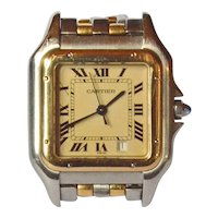 Cartier ' Panthere' gold(18k)/steel watch, automatic movement.