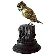 Owl sculpture,Francessco Rigozzi, vintage, 1985c.