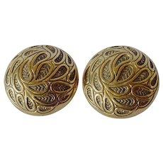 Vintage Pierre Lang, Austria costume earrings, 1980s.