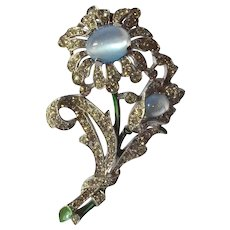 Vintage Crown Trifari flower brooch.