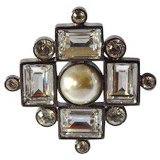 Vintage Dyrberg/Kern costume jewellery pendant/brooch.